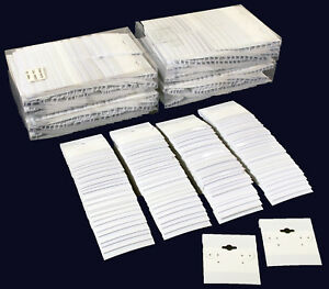 500 White Earring Hanging Cards Jewelry Display 2