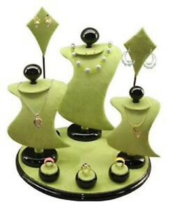 Green 9pc Combo Jewelry Counter Top Jewelry Display Set