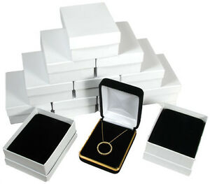 12 Piece Black Velvet Necklace Earrings Jewelry Gift Box 2 1 4 X 3 X 1 1 4 h