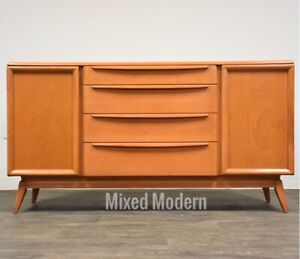 Heywood Wakefield Modern Credenza Mid Century Champagne Sideboard Tv Stand