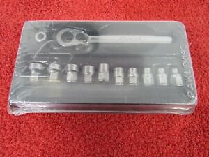 Snap On 112rtm 12 Piece 1 4 Drive Metric Low Profile Ratchet Socket Set New