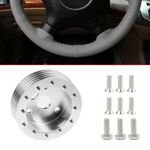 1set Silver Steering Wheel Hub Adapter Spacer For 6 Hole Fit Grant Apc 3 Hole