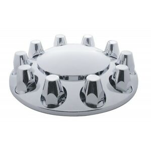 Front Axle Dome Cover Set new 33 Mm Thread on With Nut Cover 10 Lug
