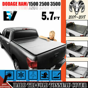 5 7ft Hard Tri fold Truck Bed Us Tonneau Cover For Dodge Ram 1500 2500 3500