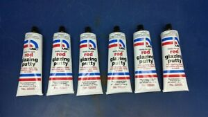 6 Tubes Usc 32035 Red Auto Body Glazing Putty For Minor Repairs 1 Lb Ea