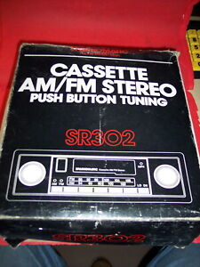 Vintage Sparkomatic Am Fm Cassette Stereo Pushbutton In Dash New Belts Serviced
