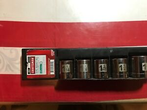 Craftsman Tools Socket Set 5 Pc Sae Large Sizes 34572 Made In Usa