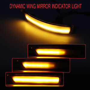 Dynamic Door Wing Mirror Led Indicator Turn Signal Lights For Ford Focus 08 16