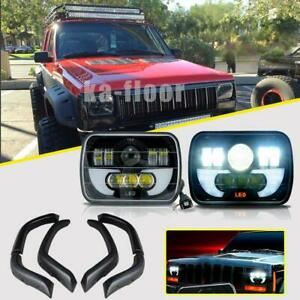 Fender Flares 7x6 Led Headlights Projector Oem Replace For Jeep Cherokee Xj Us