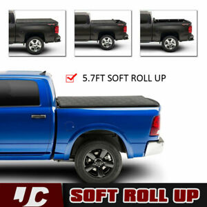 Soft Roll up for 2009 2018 Dodge Ram 1500 5 7ft Truck Tonneau Bed Cover 2019
