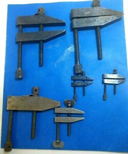 6 Vintage Machinists Parallel Clamps Starrett 2 161 d 2 16aa