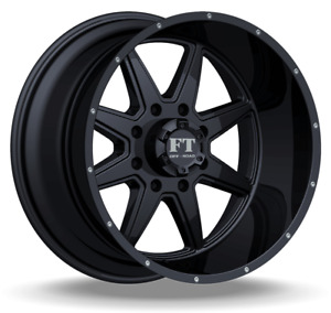 20x14 Wheels Full Throttle Ft 2 Blade Satin Black Wheels 6x139 7 76mm Chevy