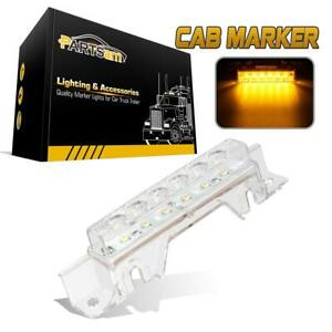 Clear Amber 6led Top Clearance Cab Light W Reflector For Volvo 03 Vn Vnl Truck