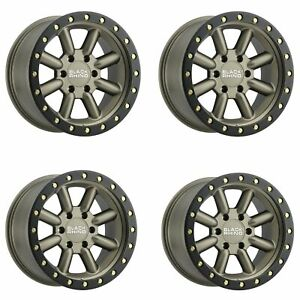 Set 4 18 Black Rhino Hachi Bronze Wheels 18x9 6x5 5 10mm 6 Lug Truck Rims