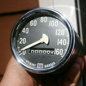 Stewart Warner Vintage 160 Mph Model 860 Electric Speedometer