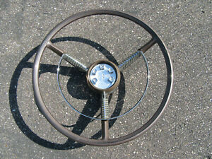 1958 Edsel Steering Wheel And Horn Ring