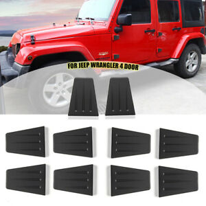 10pcs Abs Car Hood Door Hinge Cover Decor Trim For Jeep Wrangler Jk 2007 17 Jku