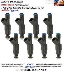 Upgraded 4hole Bosch Oem Set Of 8 Injectors For 1999 2004 Lincoln Navigator 5 4l