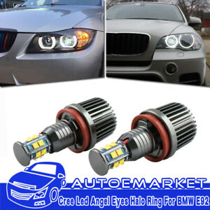 240w Total Cree H8 Led Angel Eyes Halo Ring Light Bulbs Hid Xenon 6000k For Bmw