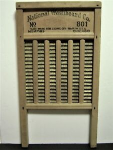 Vintage National Washboard Co The Brass King Top Notch No 801 Washboard D Cor