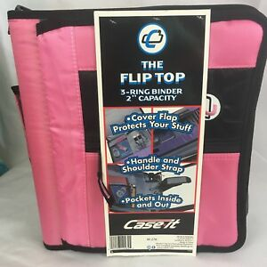 Case It Flip Top 3 ring Binder Notebook 2 Capacity M 276 School Coupons New