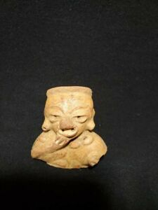 Pre Columbian Mayan Figure Fragment From Guatemala Ca 650 Ad