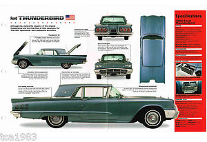 Ford Thunderbird T bird Imp Brochure 1960 1959 1958