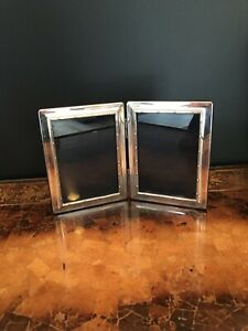 Carr S Hallmarked 925 Sterling Silver Double Photo Frame 9 X 6 Made In England