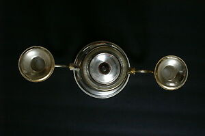 Vintage Silver Plated 3 Candle Holder Candelabra Made In England