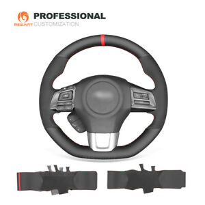 Hand Stitched Leather Suede Car Steering Wheel Cover For Subaru Wrx sti Levorg
