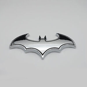 Chrome Metal Badge Emblem Batman 3d Tail Decal Auto Car Logo Sticker Accessories