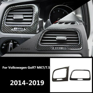 Side Air Vent Outlet Outer Frame Sticker Cover For Vw Golf Mk7 Mk7 5 2014 2019