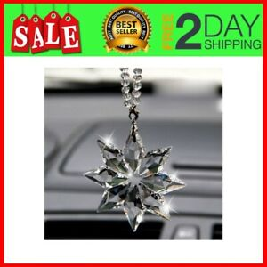 Crystal Snowflake Hanging Ornament Car Accessories For Car Rearview Mirror