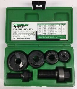 Greenlee 735bb Ball Bearing Knockout Punch Set H302783301