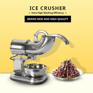 Ce Ss Ice Shaver Crusher Snow Cone Machine Commercial Electric Smoothie Maker