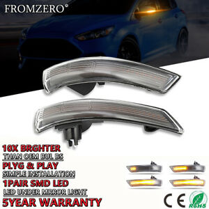 Sequential Mirror Indicator Turn Signal Light Smoked Lens For Ford Focus 08 16