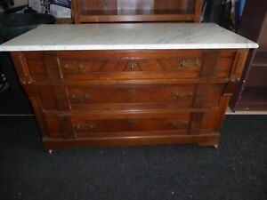Victorian Dresser With Key Marble Top