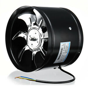 8 Inch 220v 80w Inline Duct Fan Booster Exhaust Blower Air Cooling Vent Stainles