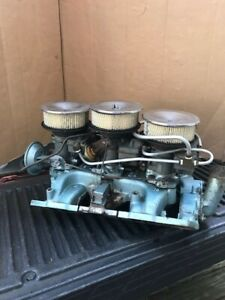 1966 Tri Power Complete With Factory Air Cleaner Lids And Bases