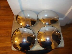Hubcaps Baby Moons Nice Chrome