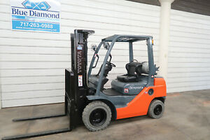 2012 Toyota 8fgu25 5 000 Pneumatic Tire Forklift Dual Fuel 1 641 Hours