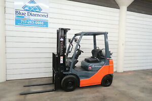 2014 Toyota 8fgu18 3 500 Pneumatic Tire Forklift Lp Gas 3 Stage S s