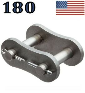 180 Roller Chain Connecting Master Link Pack Of 2 Same Day Priority Shipping