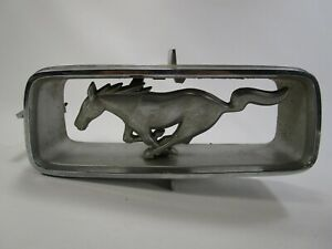 Vintage Ford Mustang Front Grill Horse Emblem Chrome 1967