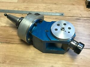 Nice Lyndex C40fh Adjustable Right Angle Other Degree Er32 Milling Head Cat40