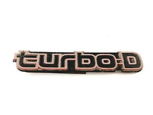 Chevy Buick Cadillac Oldsmobile Pontiac Turbo D Rear Emblem Badge Oem 1986
