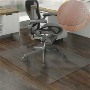 36x48 hard Wood Floor Home Office Pvc Floor Mat Square For Office Rolling Chair