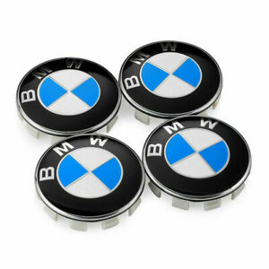 4pcs Emblem Logo Badge Hub Wheel Rim Center Cap 68mm For Bmw Set Of 4 Grey
