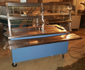 Delfield Cold Well Food Pan Refrigerated Salad Bar Buffet Service Cart Table