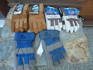 4 Pairs Wells Lamont Mules 2 Pair Mid West Winter Insulated Gloves Thinsulate